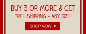 Buy 3 or more get free shipping